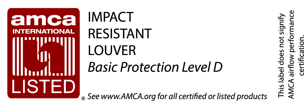 Impact Resistant Louver-Basic Protection Level D